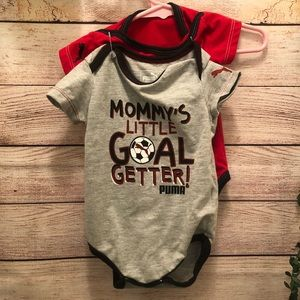 6821fbdeb022 2 pack Puma 3 month Baby Onesies